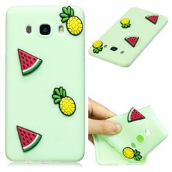 Watermelon Pineapple Soft 3D Silicone Case for Samsung Galaxy J7 2016 J710