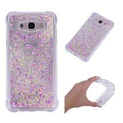 Dynamic Liquid Glitter Sand Quicksand Star TPU Case for Samsung Galaxy J7 2016 J710 - Rose