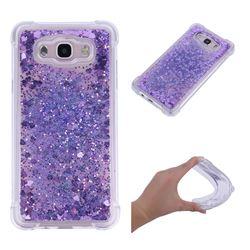 Dynamic Liquid Glitter Sand Quicksand Star TPU Case for Samsung Galaxy J7 2016 J710 - Purple