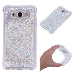 Dynamic Liquid Glitter Sand Quicksand Star TPU Case for Samsung Galaxy J7 2016 J710 - Silver