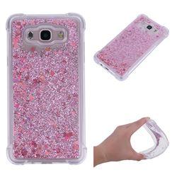 Dynamic Liquid Glitter Sand Quicksand Star TPU Case for Samsung Galaxy J7 2016 J710 - Diamond Rose