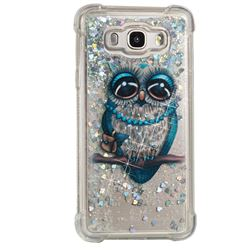 Sweet Gray Owl Dynamic Liquid Glitter Sand Quicksand Star TPU Case for Samsung Galaxy J7 2016 J710