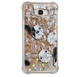Bulldog Dynamic Liquid Glitter Sand Quicksand Star TPU Case for Samsung Galaxy J7 2016 J710
