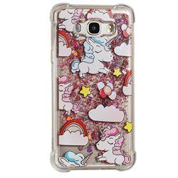 Angel Pony Dynamic Liquid Glitter Sand Quicksand Star TPU Case for Samsung Galaxy J7 2016 J710