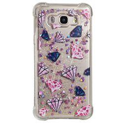 Diamond Dynamic Liquid Glitter Sand Quicksand Star TPU Case for Samsung Galaxy J7 2016 J710