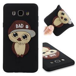 Bad Boy Owl Soft 3D Silicone Case for Samsung Galaxy J7 2016 J710 - Black