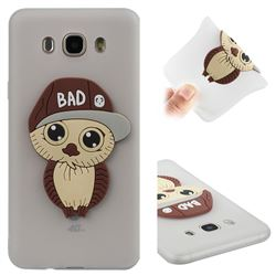 Bad Boy Owl Soft 3D Silicone Case for Samsung Galaxy J7 2016 J710 - Translucent White