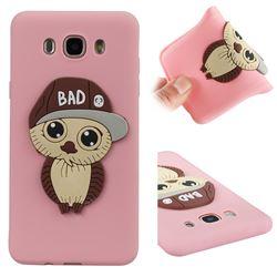 Bad Boy Owl Soft 3D Silicone Case for Samsung Galaxy J7 2016 J710 - Pink
