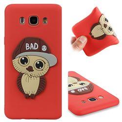 Bad Boy Owl Soft 3D Silicone Case for Samsung Galaxy J7 2016 J710 - Red