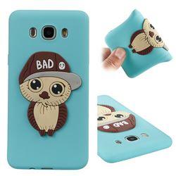 Bad Boy Owl Soft 3D Silicone Case for Samsung Galaxy J7 2016 J710 - Sky Blue