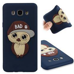 Bad Boy Owl Soft 3D Silicone Case for Samsung Galaxy J7 2016 J710 - Navy