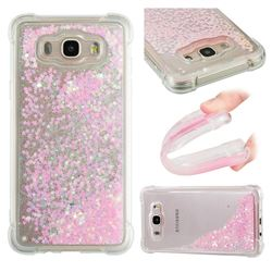 Dynamic Liquid Glitter Sand Quicksand TPU Case for Samsung Galaxy J7 2016 J710 - Silver Powder Star