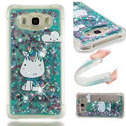 Tiny Unicorn Dynamic Liquid Glitter Sand Quicksand Star TPU Case for Samsung Galaxy J7 2016 J710