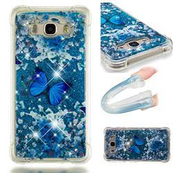 Flower Butterfly Dynamic Liquid Glitter Sand Quicksand Star TPU Case for Samsung Galaxy J7 2016 J710