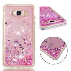 Dynamic Liquid Glitter Quicksand Sequins TPU Phone Case for Samsung Galaxy J7 2016 J710 - Rose