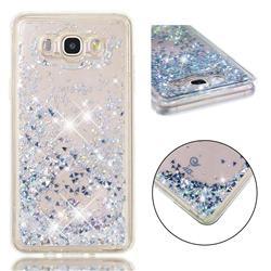 Dynamic Liquid Glitter Quicksand Sequins TPU Phone Case for Samsung Galaxy J7 2016 J710 - Silver