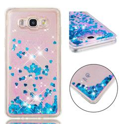 Dynamic Liquid Glitter Quicksand Sequins TPU Phone Case for Samsung Galaxy J7 2016 J710 - Blue