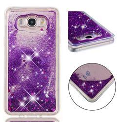 Dynamic Liquid Glitter Quicksand Sequins TPU Phone Case for Samsung Galaxy J7 2016 J710 - Purple
