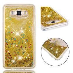 Dynamic Liquid Glitter Quicksand Sequins TPU Phone Case for Samsung Galaxy J7 2016 J710 - Golden