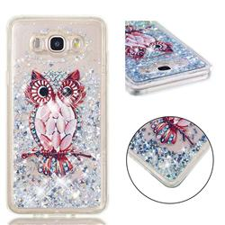 Seashell Owl Dynamic Liquid Glitter Quicksand Soft TPU Case for Samsung Galaxy J7 2016 J710