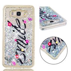 Smile Flower Dynamic Liquid Glitter Quicksand Soft TPU Case for Samsung Galaxy J7 2016 J710
