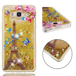 Golden Tower Dynamic Liquid Glitter Quicksand Soft TPU Case for Samsung Galaxy J7 2016 J710