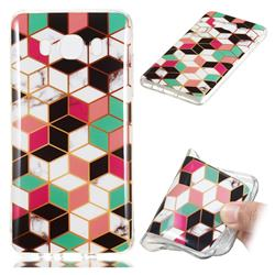 Three-dimensional Square Soft TPU Marble Pattern Phone Case for Samsung Galaxy J7 2016 J710