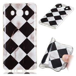 Black and White Matching Soft TPU Marble Pattern Phone Case for Samsung Galaxy J7 2016 J710