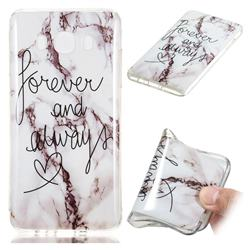 Forever Soft TPU Marble Pattern Phone Case for Samsung Galaxy J7 2016 J710
