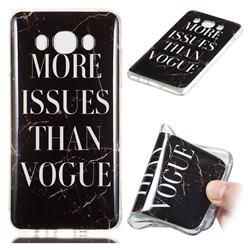Stylish Black Soft TPU Marble Pattern Phone Case for Samsung Galaxy J7 2016 J710