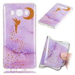 Elf Purple Soft TPU Marble Pattern Phone Case for Samsung Galaxy J7 2016 J710