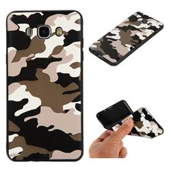 Camouflage Soft TPU Back Cover for Samsung Galaxy J7 2016 J710 - Black White