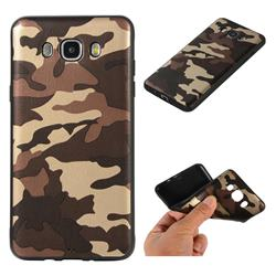 Camouflage Soft TPU Back Cover for Samsung Galaxy J7 2016 J710 - Gold Coffee