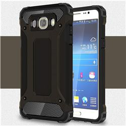 King Kong Armor Premium Shockproof Dual Layer Rugged Hard Cover for Samsung Galaxy J7 2016 J710 - Black Gold