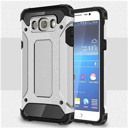 King Kong Armor Premium Shockproof Dual Layer Rugged Hard Cover for Samsung Galaxy J7 2016 J710 - Technology Silver