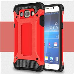 King Kong Armor Premium Shockproof Dual Layer Rugged Hard Cover for Samsung Galaxy J7 2016 J710 - Big Red