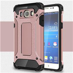 King Kong Armor Premium Shockproof Dual Layer Rugged Hard Cover for Samsung Galaxy J7 2016 J710 - Rose Gold