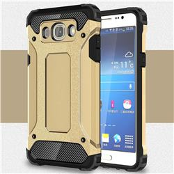 King Kong Armor Premium Shockproof Dual Layer Rugged Hard Cover for Samsung Galaxy J7 2016 J710 - Champagne Gold