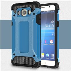 King Kong Armor Premium Shockproof Dual Layer Rugged Hard Cover for Samsung Galaxy J7 2016 J710 - Sky Blue