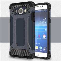 King Kong Armor Premium Shockproof Dual Layer Rugged Hard Cover for Samsung Galaxy J7 2016 J710 - Navy
