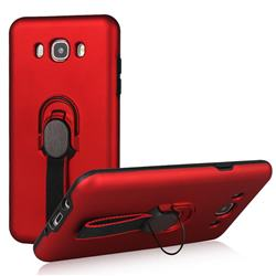Raytheon Multi-function Ribbon Stand Back Cover for Samsung Galaxy J7 2016 J710 - Red