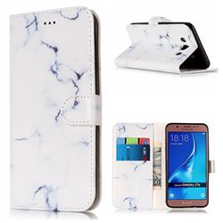 Soft White Marble PU Leather Wallet Case for Samsung Galaxy J7 2016 J710