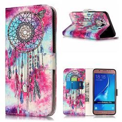 Butterfly Chimes PU Leather Wallet Case for Samsung Galaxy J7 2016 J710