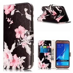 Azalea Flower PU Leather Wallet Case for Samsung Galaxy J7 2016 J710