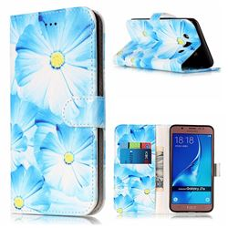 Orchid Flower PU Leather Wallet Case for Samsung Galaxy J7 2016 J710