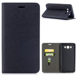 Tree Bark Pattern Automatic suction Leather Wallet Case for Samsung Galaxy J7 2016 J710 - Black