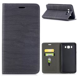 Tree Bark Pattern Automatic suction Leather Wallet Case for Samsung Galaxy J7 2016 J710 - Gray