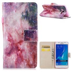 Cosmic Stars PU Leather Wallet Case for Samsung Galaxy J7 2016 J710