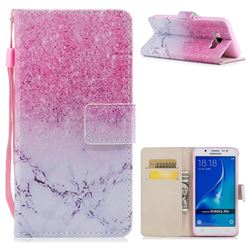 Marble Powder PU Leather Wallet Case for Samsung Galaxy J7 2016 J710