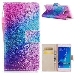 Rainbow Sand PU Leather Wallet Case for Samsung Galaxy J7 2016 J710
